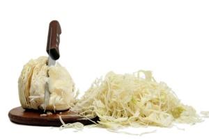 preparing sauerkraut